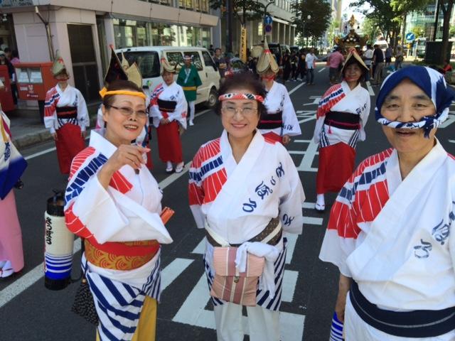 札幌阿波踊り老舗連「さっぽろ阿呆連」の皆さま