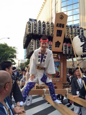 STEPS最強スタッフのひとり、吉田理恵くん!ナント札電協青年部神輿會「雷會」だったとは!